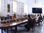 Tim Vaksin Merah Putih Temui Jokwi di Istana Bogor