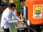 Genius Umar Mencoblos di TPS I Kelurahan Kampung Jawa II