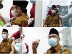 Wako Erman Safar dan Wakil Disuntik Vaksin Covid-19