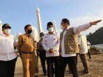 Plt Wako Hendri Septa Tinjau Pembangunan Tanggul Laut Pantai Padang