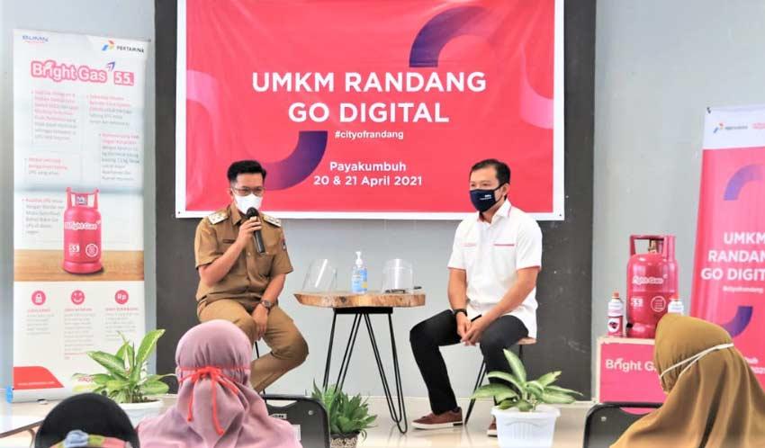 UMKM Rendang Go Digital, Bersama Pertamina, Pelaku UMKM Payakumbuh Ikuti Workshop