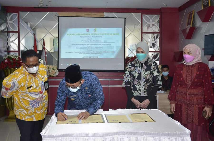 Permudah Administrasi Kependudukan, Pemko Padang Jalin Kerjasama Dengan RSIA Restu Ibu