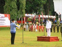 Di Tanah Datar, Bupati Eka Putra Inspektur Upacara Bendera HUT RI-76