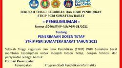 Lowongan Dosen Tetap STKIP PGRI Sumatera Barat-Padang