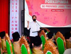Meski Kasus Aktif Menurun, Presiden Jokowi Ingatkan Forkopimda Tetap Hati-Hati