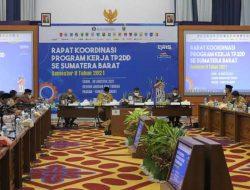 Wawako Solok Hadiri Rakor TP2DD se Sumatera Barat di Padang