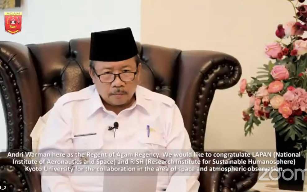 Kabupaten Agam Jadi Bagian Studi Atmosfer Khatulistiwa Dunia