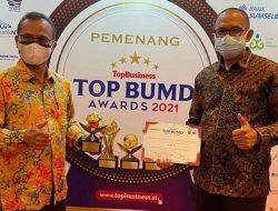Perumda Tirta Sago Payakumbuh Raih TOP BUMD Award 2021