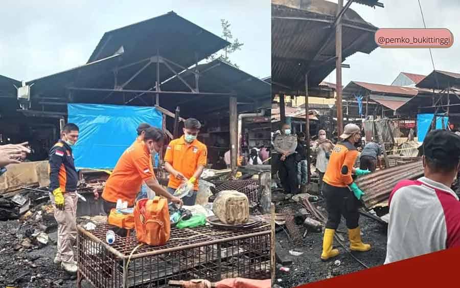 Sehari Pasca Musibah Kebakaran Pasar Bawah