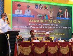 Kodim 0306/50 Kota Gelar Lomba Keagamaan Dalam Rangka HUT TNI Ke 76